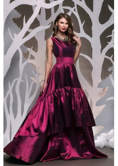 Elegant Bordo Formal Dress